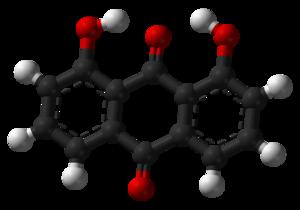 Dantron - Image: 1,8 Dihydroxyanthraquino ne 3D balls