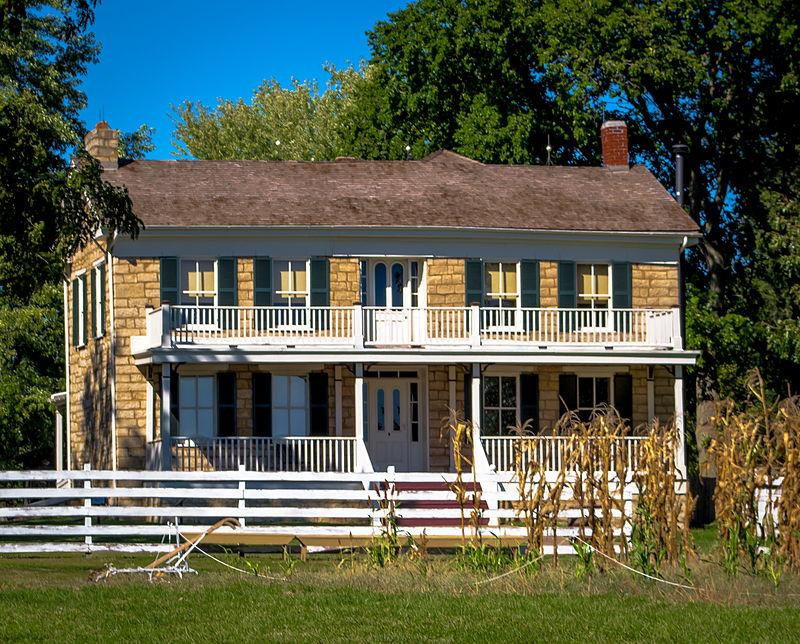 1100 Kansas City Rd., Olathe, KS J.B. Mahaffie House.jpg