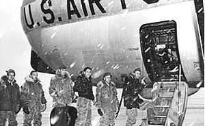 109th Airlift Wing - 139th MAS C-97 at snowy Schenectady in the 1960s.