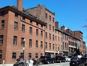 Central Wharf (Boston) - Former warehouses on Central Wharf, now Milk Street