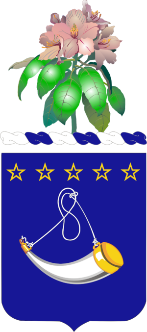 150th Cavalry Regiment - Coat of arms