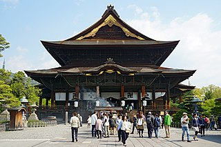 Buddhist temple in Nagano, Nagano Prefecture, Japan