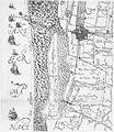 1612, Kaart van Delfland met Den Haag, Scheveningen en Loosduinen.jpg