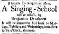 1783 April5 SingingSchool NewHampshireGazette.png