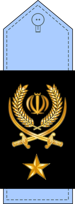 Air Force ranks and insignia of Iran - Image: 18 سرتیپ IRIAF