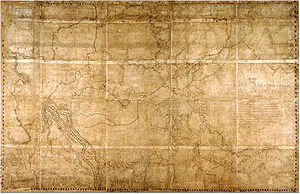 Exploration of North America - Map of the North-West Territory of the Province of Canada, stretching from the Fraser River on the west to Lake Superior on the east. By David Thompson, 1814.