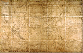 David Thompson (explorer) - Map of the North-West Territory of the Province of Canada, stretching from the Fraser River on the west to Lake Superior on the east. By David Thompson, 1814.