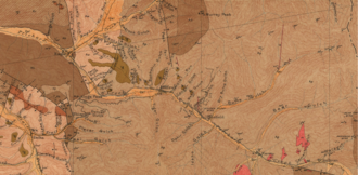 Murray, Idaho - 1907 Geologic map of Murray, including the locations of the Golden Chest, Bear Top and Paragon mines