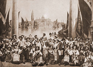 <i>The Gondoliers</i> Savoy Opera by Gilbert and Sullivan that premiered in 1889