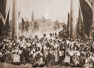 The Gondoliers - From Act I of the 1907 D'Oyly Carte production at the Savoy Theatre