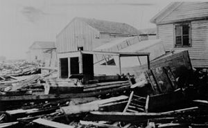 Port Aransas, Texas - Storm surge damage from the 1916 hurricane