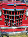 1951 Willys Jeepster 4-cylinder in red and black with white top at 2015 Macungie show 3of5.jpg