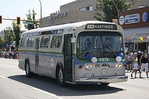 BC Transit - BC Hydro markings on a 1964 GMC bus
