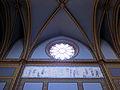 196 Santuari de la Misericòrdia (Canet de Mar), rosassa i pintura lateral de la nau.JPG