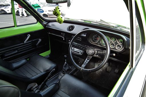 Interior of a 1972 Ford Escort Mk I 1600 GT Mexico (6051994885)