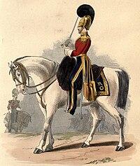 Uniform of the 1st Dragoons, 1839