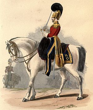 British Army during the Victorian Era - Trooper of the 1st Royal Dragoons, 1839