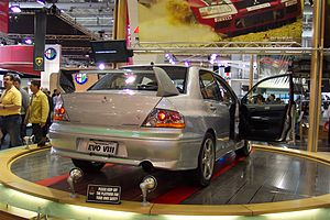 Mitsubishi Lancer Evolution - Mitsubishi Lancer Evolution VIII at 2003 Sydney International Motor Show