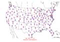 2006-02-15 Max-min Temperature Map NOAA.png