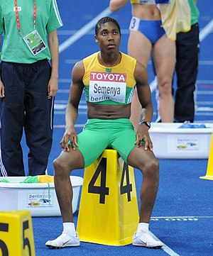 2009 World Championships in Athletics – Women's 800 metres - Caster Semenya won her first World Championship gold medal despite a controversial build up
