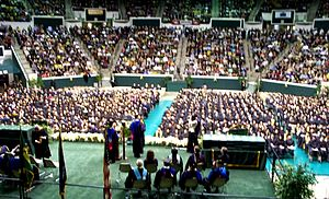 University Center (Southeastern Louisiana) - Graduation ceremony for Southeastern Louisiana University, December 12, 2009, in the University Center, Dr. John L. Crain presiding.