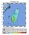 2010 Kaohsiung earthquake intensity USGS.jpg