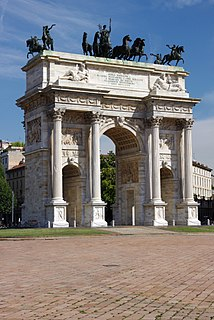 Neoclassical architecture in Milan