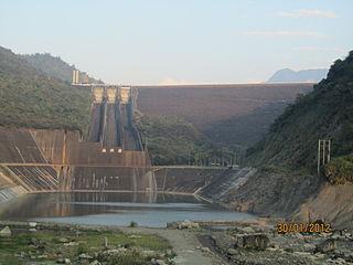 Zengwen Dam Dam in Dapu, Chiayi County, Taiwan
