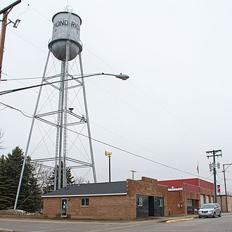 Richmond, Minnesota - Richmond's Water Tower, City Library, City Hall and Fire Station