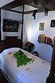 2013-12-22 Bett mit Totenmaske Frida Kahlo Museum Mexico City anagoria.JPG
