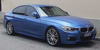 BMW 3 Series (F30) - 2013 BMW 328i M Sport sedan finished in Estoril Blue II