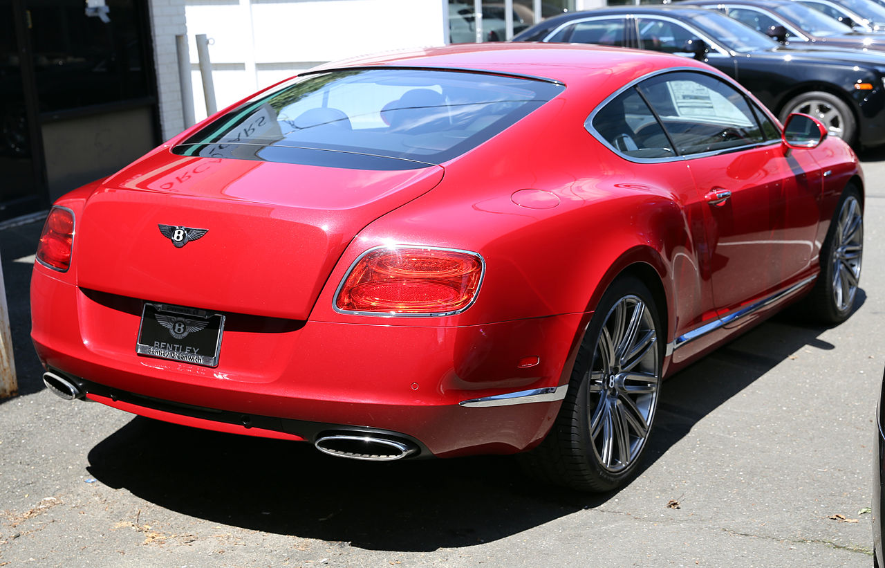 File:2013 Bentley Continental GT Speed, Dragon Red.jpg - Wikimedia Commons