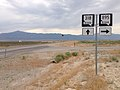 2014-07-18 09 38 48 View south along Nevada State Route 318 at the junction with Nevada State Route 895 about 16.6 miles north of the Nye County Line in Preston, Nevada.JPG