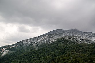 January 2016 East Asia cold wave - A 500-meter snowfall line on Datun Mountain in Yangmingshan, Taipei