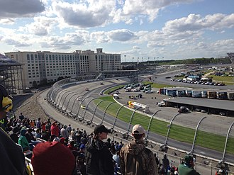 AAA 400 Drive for Autism - Eventual race winner Matt Kenseth leads in the closing laps of the 2016 AAA 400 Drive for Autism