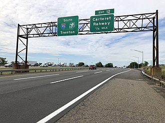 Linden, New Jersey - The New Jersey Turnpike/Interstate 95 in Linden