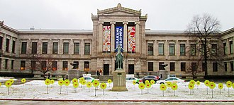 Museum of Fine Arts, Boston - Image: 2018 Museum of Fine Arts Boston Huntington Avenue facade from east