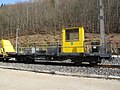2019-03-03 (215) NÖVOG 93109 (rail mounting wagon) at Bahnhof Schwarzenbach an der Pielach, Frankenfels, Austria.jpg