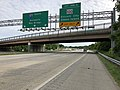 2019-05-21 17 14 17 View south along Interstate 97 (Glen Burnie Bypass) at Exit 14 (Maryland State Route 100, Ellicott City, Gibson Island) in Glen Burnie, Anne Arundel County, Maryland.jpg