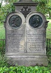 Grab der Schnorr von Carolsfeld auf dem Alten Annenfriedhof in der Südvorstadt in Dresden (Quelle: Wikimedia)