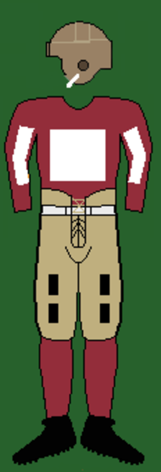 1926 Harvard Crimson football team - Image: 20sharvarduniform