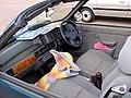 255 - February 1996 green Rover 100 Cabriolet 1.4, interior.jpg