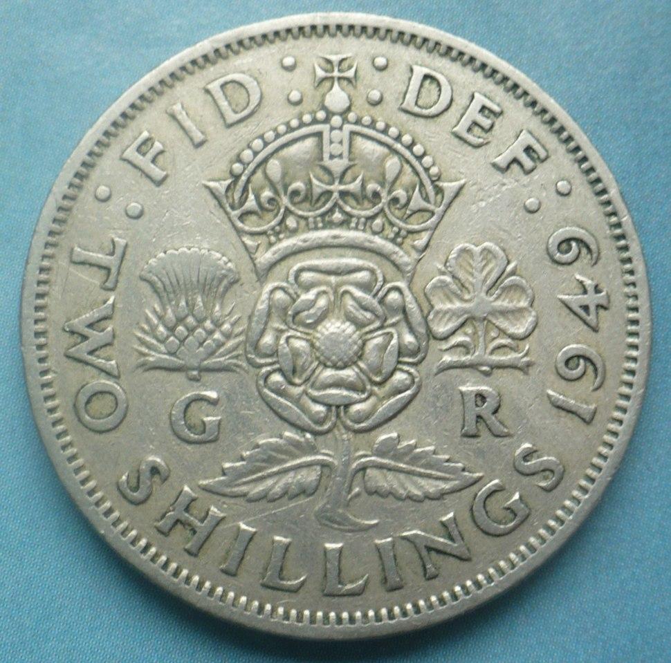 2 shillings 1949