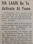 5th LAAM - 19660701 - 5th LAAM to activate at Yuma - MCAS Yuma Cactus Comet.jpg