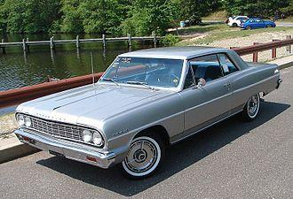 Chevrolet Chevelle - 1964 Chevrolet Chevelle Malibu Sport Coupe (with Malibu SS hubcaps)