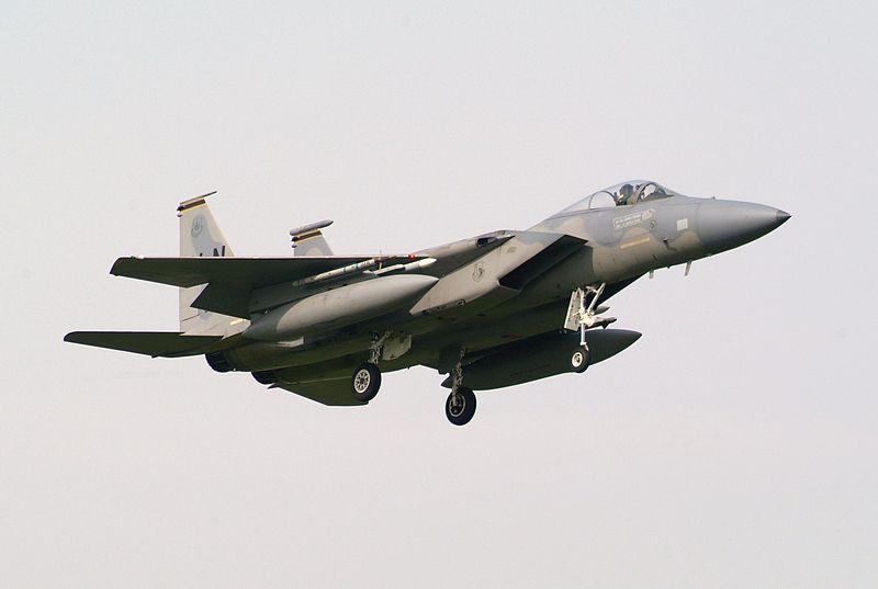 File:84-0015 LN F-15C Eagle of RAF Lakenheaths 48 FW 493 FS (4543590190).jpg
