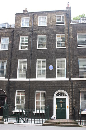 George Dance the Younger - 91 Gower Street, London where Dance lived and died