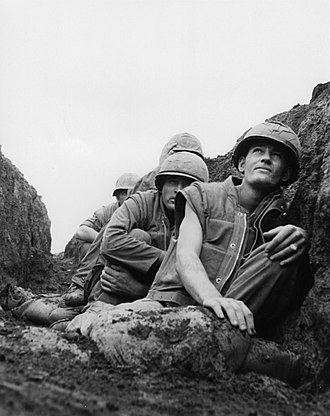 Con Thien - 9th Marines take cover at Con Thien