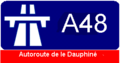 A48 (France) Route marker.png
