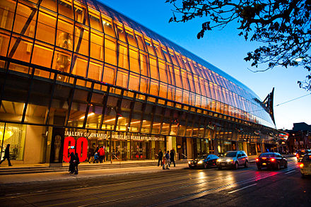 The Art Gallery of Ontario is an art museum and the second most visited museum in Toronto. AGO at dusk.jpg
